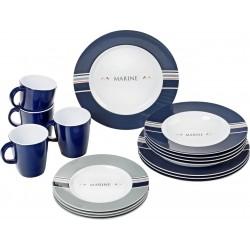 Tableware Set Marine, 16 Parts