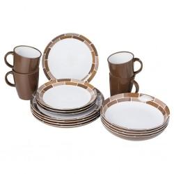 tableware set Chocolate, 16 pcs.