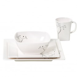 Tableware Set Quadrato Black Pearl