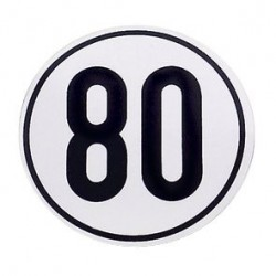 Speed Limit Sign 80 km/h