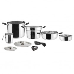 Stainless Steel Pot Set Academy 8 + 1