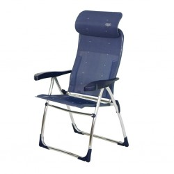 Folding chair Compact round pipe Blue