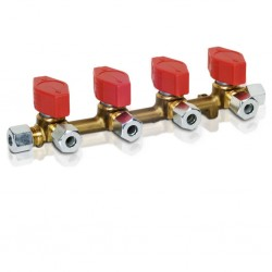 Distribution Block 4 Outlets, 10 mm