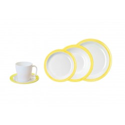 Tableware Set 20 Pieces Yellow