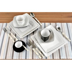 Tableware Set Black and White