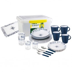 Tableware Set Blue Ocean 36 Pieces