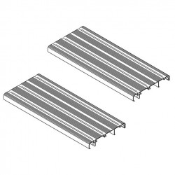 Foot Board Thule Double Step 12V 380 Aluminium, 2 Pcs.