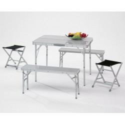 Folding Picnic Set Aluminium