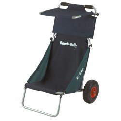 Beach Rolly with canopy top, green/ blue