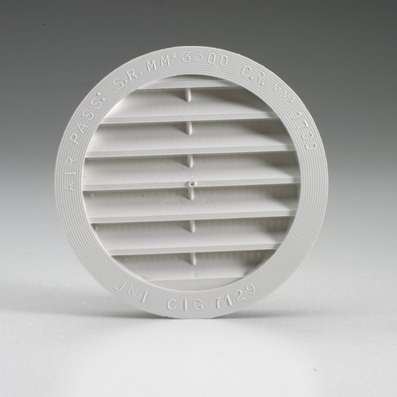 Ventilation Grille ΓΈ 80 mm White