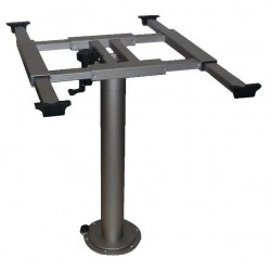 Table Frame with Turning and Shifting Mechanism