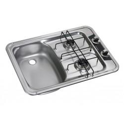 Built-In-cooker-sink-combination unit HS 2420L, left sink