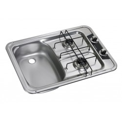 Built-In-cooker-sink-combination unit HS 2420L, left sink