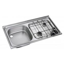 Built-In-cooker-sink-combination unit HS 2421L, left sink