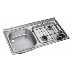 Built-In-cooker-sink-combination unit HS 2421L, left sink