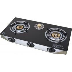 Stainless Steel 3-Burner Propane Gas Stove