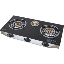 Stainless Steel 3-Burner Propane Gas Stove