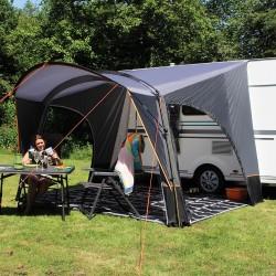 partial tent Sienna, open