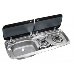 Built-In-cooker-sink-combination  HSG 2370L, Sink left-side