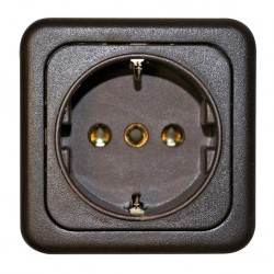 Safety Socket Brown