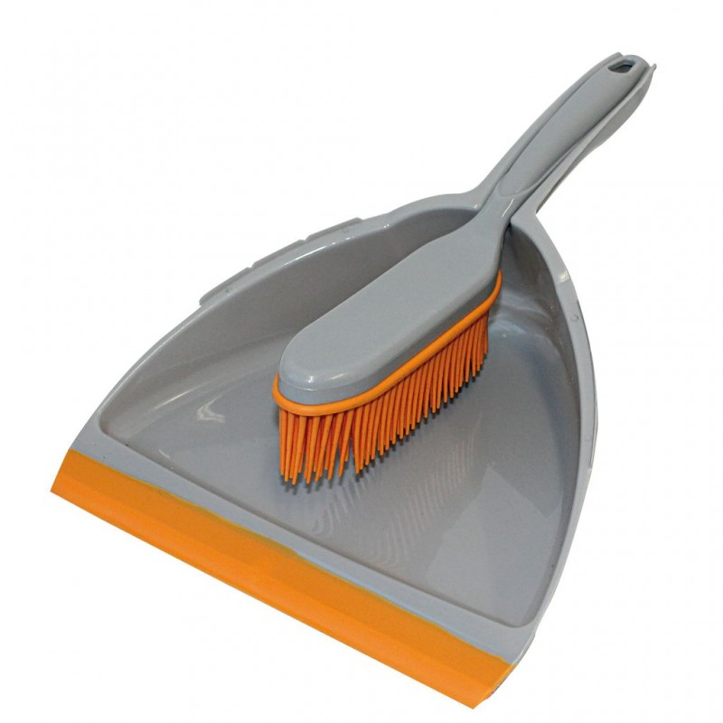 Rubber Dustpan and Brush