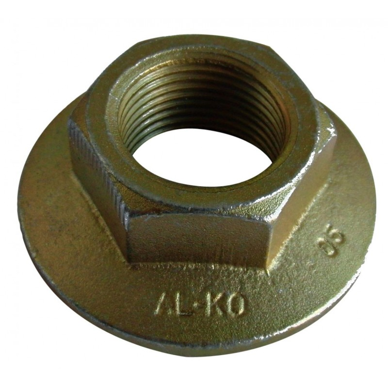 Flange Nut M 27 x 2,00 mm, galvanised