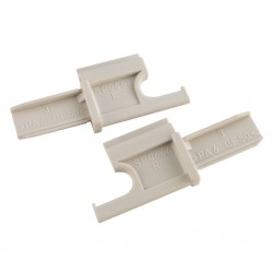 Pair of End Caps (SP 663 + SP 664) for Roller Blind 2001