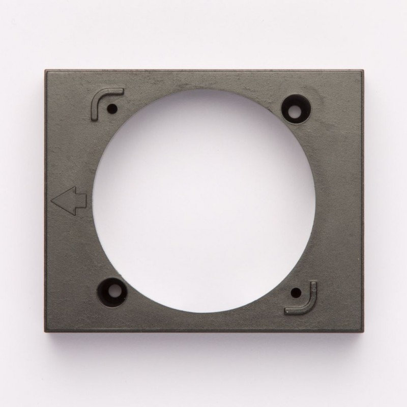 Surface-Mounted Frame for Standard Control Panels Black