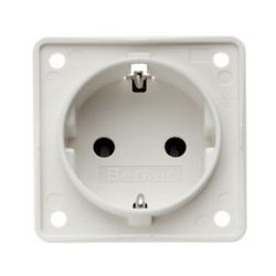 Integro Socket Schuko Shiny White Matt