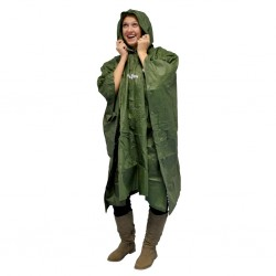 Waterproof Poncho Rainman Green