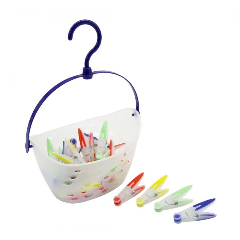 Basket with 20 pegs