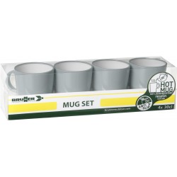 Set mugs Resylin grey (4pcs)