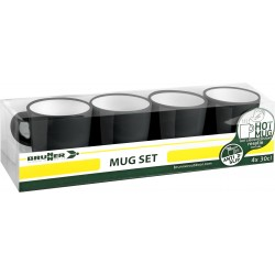 Set mugs Resylin black (4pcs)