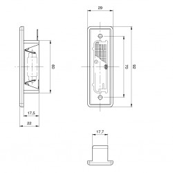 JOKON Number Plate Lamp K 570 L