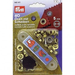 PRYM Eyelets with Slices ΓΈ 5 mm