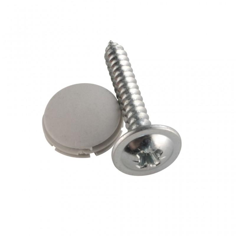 Cover Cap + Screws, Grey