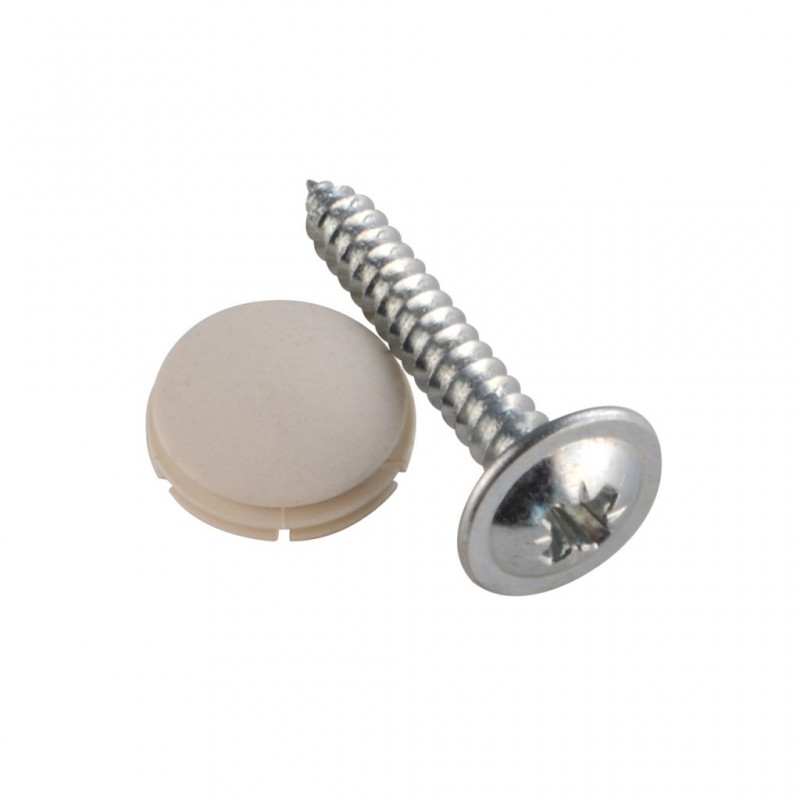 Cover Cap + Screws, Creme