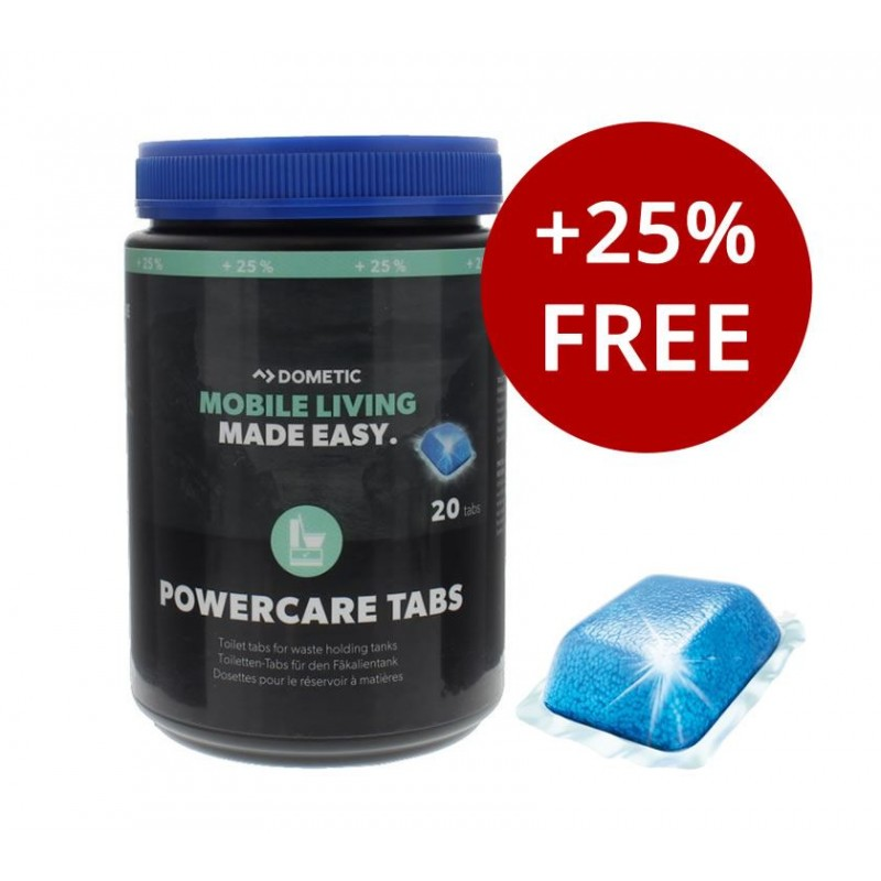 ΤΑΜΠΛΕΤΕΣ POWERCARE TABS 20 (+25) DOMETIC