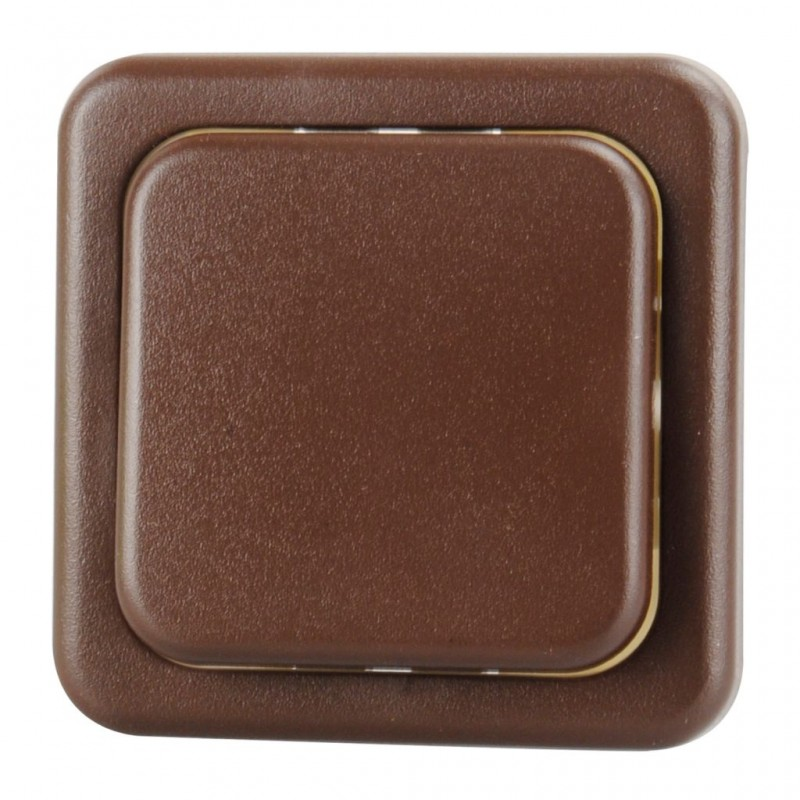 Insert for Rocker Switch 1 Pin Brown