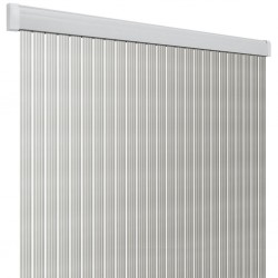 Door Curtain Band Lux White/Silver