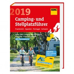ADAC campsite and pitch guide, France-Spain-Portugal-Switzerland