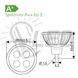 Spot MR 16, 4x1 SMD LED,GU 5,3