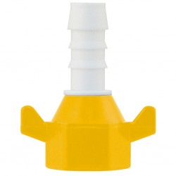 LILIE barb connector white-yellow