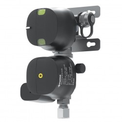 DuoControl CS, vertical – gas pressure regulator with crash sensor and switching device for two gas bottles, wall installation.