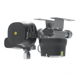 DuoControl CS, horizontal – gas pressure regulator with crash sensor and switching device for two gas bottles, roof installation.