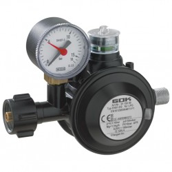 low pressure regulator, 50 mbar with manometer