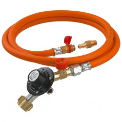 regulator hose set for gas cartridge grill devices