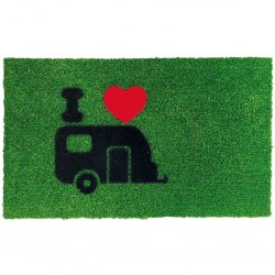 door mat Green Flock, caravan