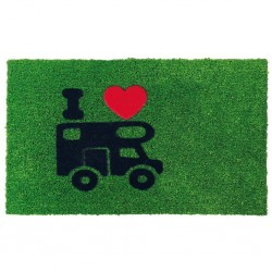 door mat Green Flock, motorhome