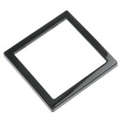 single cover frame, black, high gloss